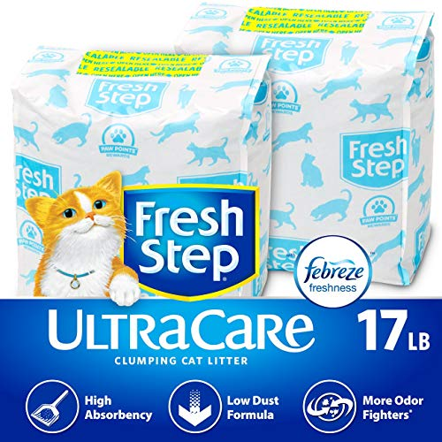 (Fresh Step UltraCare with Febreze Freshness, Clumping Cat Litter, Scented, 17 Pounds)