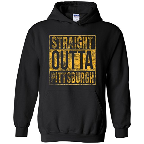 - UGP Campus Apparel Straight Outta Pittsburgh - Pennsylvania Football Hometown Pride Hoodie - 2X-Large - Black