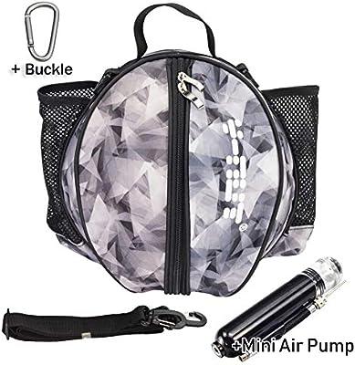 Y-Nut - Bolsa de Baloncesto con Bomba de Aire Manual (tamaño de Bolsillo), Hombre, Negro/Gris