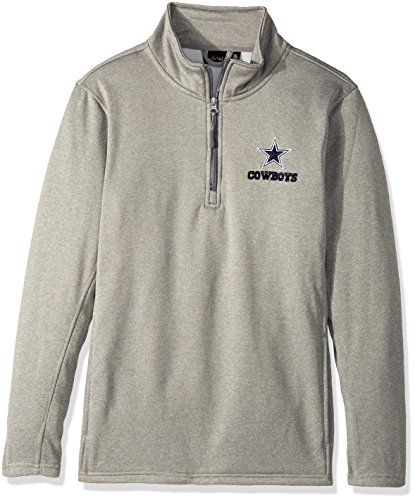 Dunbrooke Apparel NFL Dallas Cowboys Unisex All Starall Star Tech Fleece 1/4 Zip, Heather Grey, Small by Dunbrooke Apparel