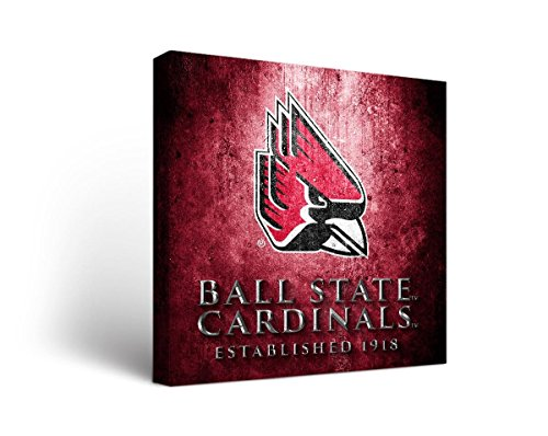 Price comparison product image Victory Tailgate Ball State Cardinals Canvas Wall Art Museum Design (24x36)