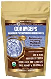 CORDYCEPS Full-Spectrum Mushroom Superfood Powder: Highest Potency Performance & Immunity Enhancer. Preworkout Oxygen Boost. Add to Smoothies & Tea. Organic, Vegan, Non-GMO, Gluten-Free!