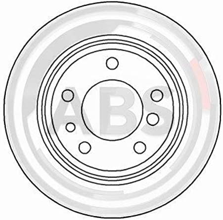 ABS 15872 Bremsscheiben Verpackung enth/ält 2 Bremsscheiben