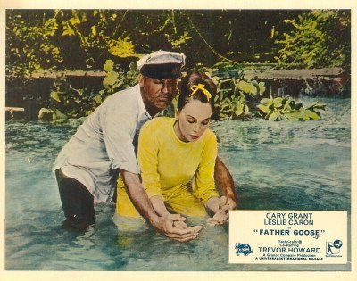 FATHER GOOSE CARY GRANT IN WATER BRITISH LOBBY CARD