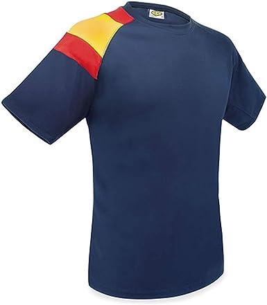 GARGOLA.ES OPERADORES DIGITALES Camisetas Entrenamiento Bandera D&F- Azul Oscuro- con la Bandera de España- Camiseta Manga Corta Hombre Tecnica- Camisetas Deporte Hombre: Amazon.es: Ropa y accesorios