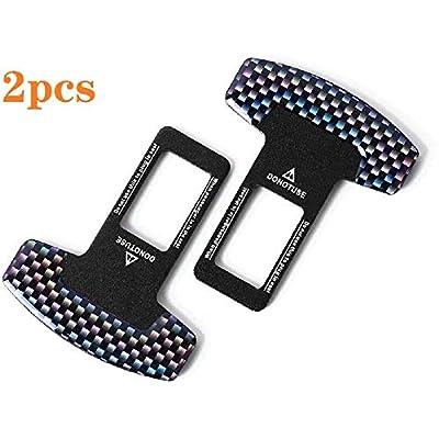 Seat Belt Clips, Universal Car Belt Clips Buckle Stopper Metal Rust Proof Durable (2PCS): Automotive
