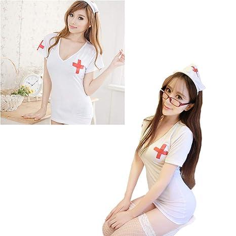 Amazon.com: Disfraz de enfermera para mujer, traje de ...