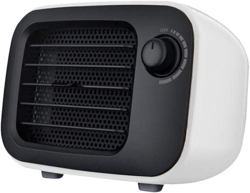 Suyoo Mini Excel Eco- Calefactor cerámico de rápido Calentamiento con Potencia Regulable de 500W, termostato, Calentador de Ventilador Protección contra Sobrecalentamiento Función de Silencio, Blanco