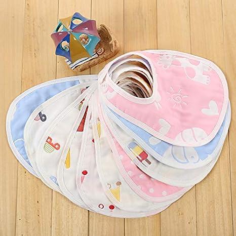 WLLLO babero de algodón de 6 capas de gasa bebé babero de algodón Nuevo bebé de niño anti leche de pecho toallita bucal Dou, Prince 5: Amazon.es: Bebé