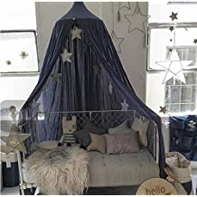 240cm/94.5'' Mosquito Net Canopy,Dome Princess Bed Cotton Canvas Cloth Hanging Tents Childrens Room Decorate for Baby Kids Play House (Blue)