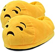 BTwear Unisex Poop Emoji Slippers Plush Slippers for Winter Household Items Indoor Slippers Kids Size Slippers
