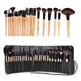 Togirl 32PCS Wood Make up Brushes Set Professional Cosmetic MakeUp Brushes Set Tool
