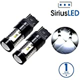 SiriusLED Extremely Bright 30W 7440 7441 992 T20 LED Bulbs with Projector for Turn Signals Reverse Backup Brake Tail Lights Xenon White