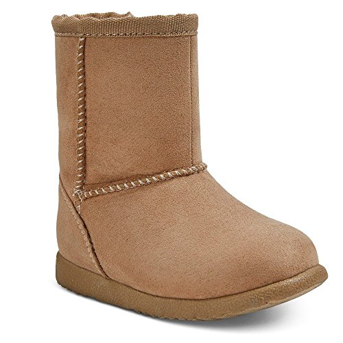 Baby Shearling Boots - Masked Brand Genuine Kids from OshKosh Infant Girls' Aubrey Fleece Boots (4, Tan)