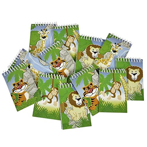 Safari Party Notepad - Kicko Jungle Spiral Notebook -20pg safari notebook - memo notepad - to-do list - kids party favors, bag stuffers, gift prize