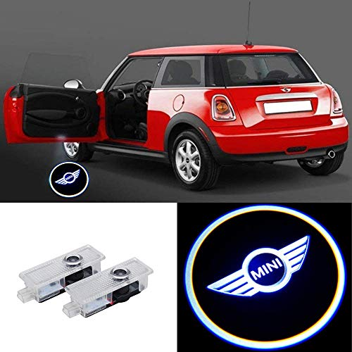 2 Pcs Door Light Car Vehicle Ghost LED Courtesy Welcome Logo Light Lamp Shadow Projector For Mini Cooper R55 R56 R57 R58 R59 R60 R61 F55 F56 F57 (2 Pcs)