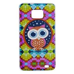conseguir Owl Patrón TPU caja colorida suave para i9100 Samsung S2