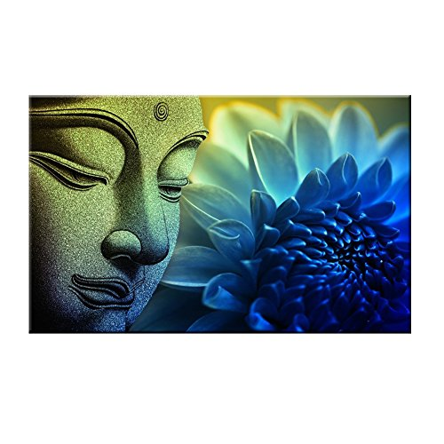 Blxecky 5D DIY Full Diamond Cross Stitch Painting,Living Room Decorative Wall Stickers wallpaperBuddha 30X40CM/12X16inch