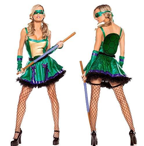 ZSDFGH Disfraz Ninja Mujer/Disfraz Tortuga Ninja/Disfraz ...