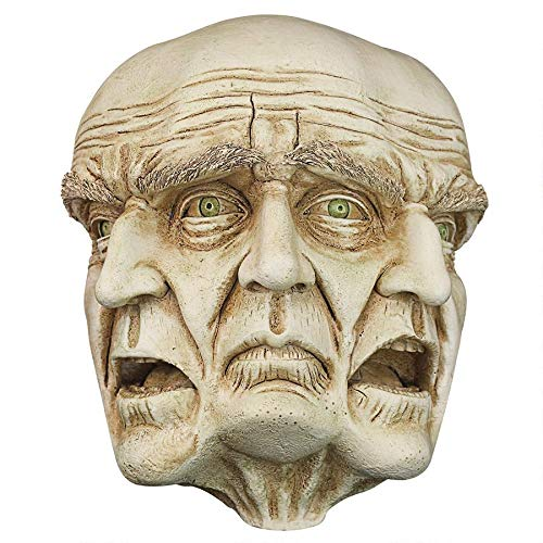 Dark Moor Halloween (Design Toscano Faces of a Nightmare Gothic Wall Sculpture, 10 Inch, Polyresin, Ancient)