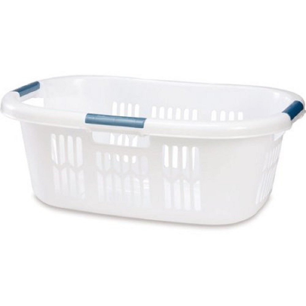 Rubbermaid 1.5 BU Hip-Hugger Laundry Basket White