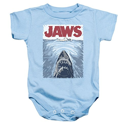 JAWS Graphic Movie Poster Infant One-Piece Snapsuit, 24 Months