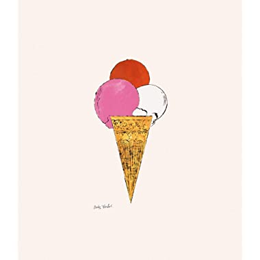 Posters: Andy Warhol Poster Art Print - Ice Cream Dessert, C.1959 (red, Pink, White) (14 x 11 inches)