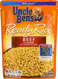 Uncle Ben\'s Ready Rice Pouch Beef Flavor with Carrots and Herbs 8.5 Oz. [Pack of 6]