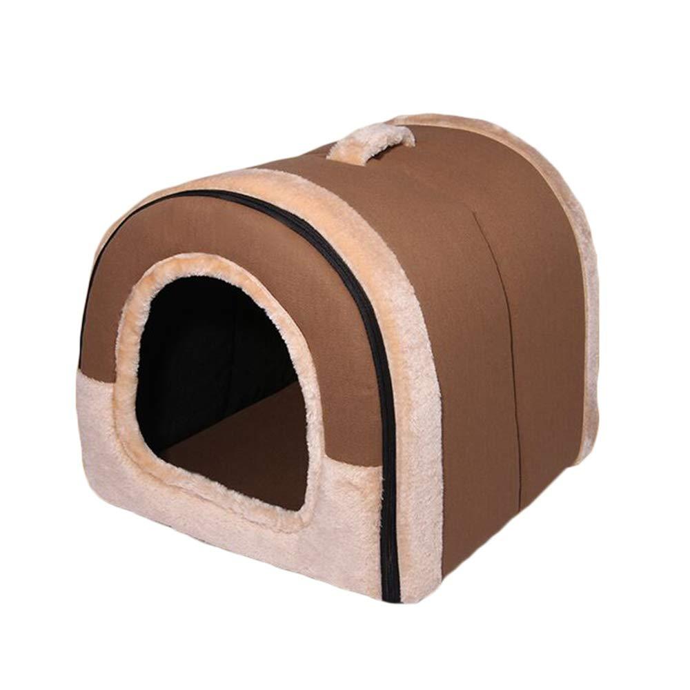 E X-Large E X-Large Pet nest mattress portable polyester cotton canvas plush cat dog small animal pet nest (color   E, Size   Xl)