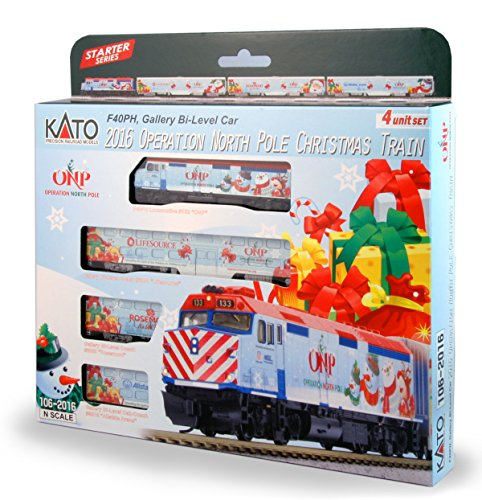 Kato Train - Kato USA Model Train Products N 2016 Operation North Pole Christmas Train Locomotive & Cars