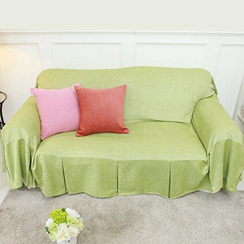 RUGAI-UE Sofa Slipcover Pure modern minimalist sofa cover sofa cloth cover all colors,300×180,Fresh green