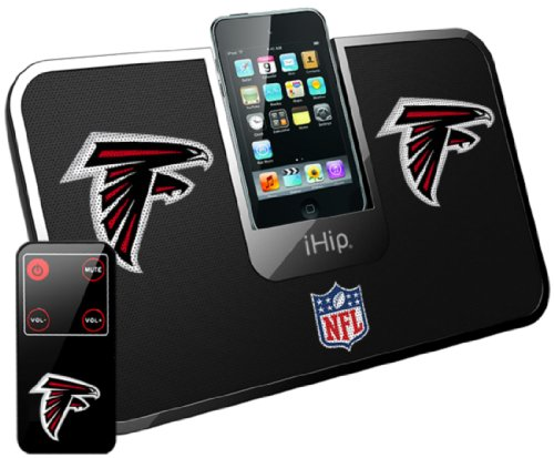 iHip Official NFL - ATLANTA Falcons Portable iDock Stereo Speaker with Wireless Remote NFV5000ATF