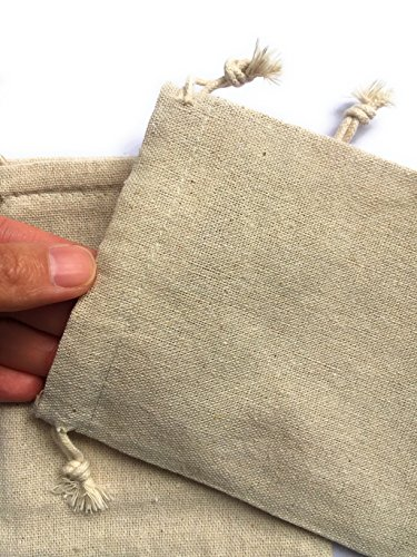8b7fb4016632 MIAOMIAO [set of 12] reusable cotton double drawstring Bags, Machine  Washable gift bags, Natural Linen Pouches for Gift Packaging, Perfect for  ...