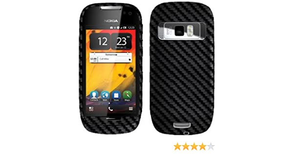 watch a0a47 fc6ee Nokia 701 Screen Protector + Carbon Fiber Full Body, Skinomi TechSkin  Carbon Fiber Skin for Nokia 701 with Anti-Bubble Clear Film Screen