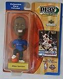 Philadelphia 76ers star #3 Allen Iverson official NBA Upper Deck Playmakers Bobble card set Bobblehead