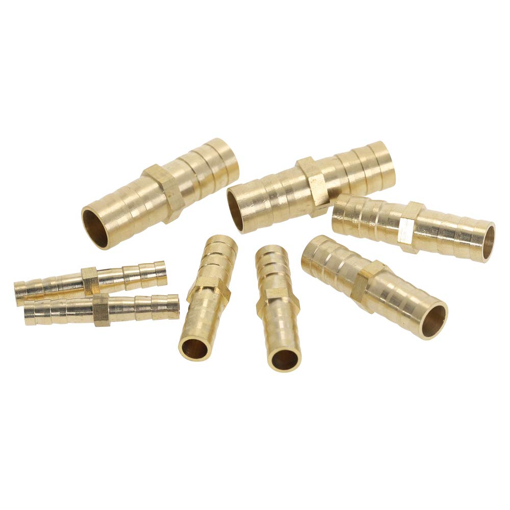 Color: 3way -t, Size: 8mm Barb Xucus Brass Splicer Pipe Fitting T X Y U Type Hose Barb 4mm 6mm 8mm 10mm 12mm Copper Barbed Connector Joint Coupler Adapter