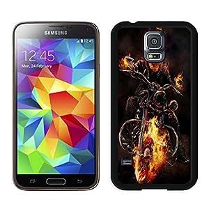 ghost_rider_motorcycle_fire_fog_64914_800x1280 Black Fashion Customize Design Samsung Galaxy S5 I9600 G900a G900v G900p G900t G900w Phone Case