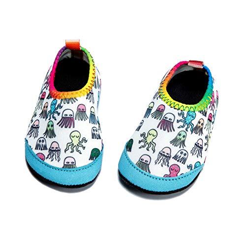 Panda Software Baby Boys Girls Water Shoes Infant Barefoot Quick -Dry Anti- Slip Aqua Sock for Beach Swim Pool Jellyfish/18-24 Months M US Infant