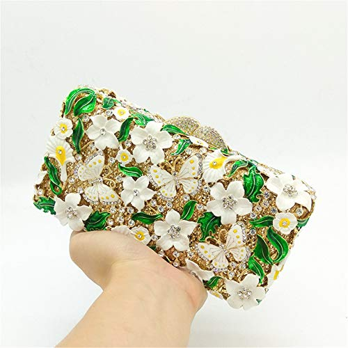 Grade Women Evening Purse Bag Ladies For studded Hand Handbag Flower Xiaoqin High Butterfly Clutches Prom Pattern nTgw0xaZ4q