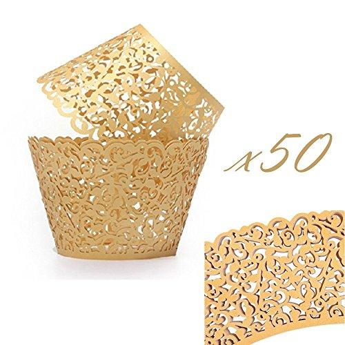 mini cupcake liner gold - 9