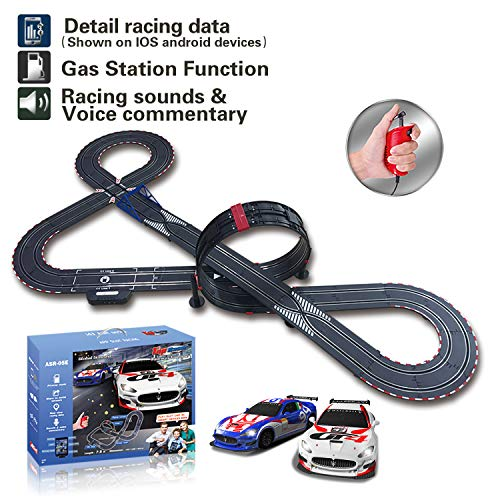 AGM Slot car Set with Racing Assistant APP No.ASR-05 1:43 Scale