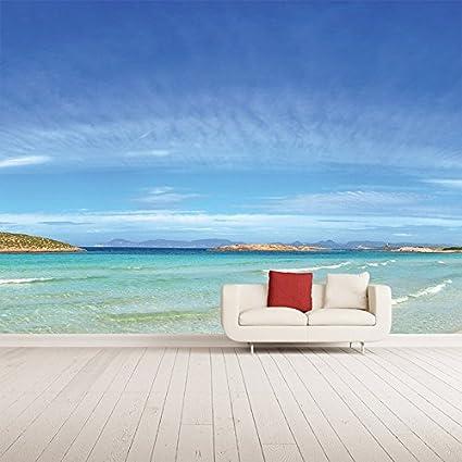 Spiaggia Murale Isola di Formentera Foto Sfondo Camera da letto ...