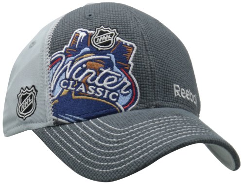 Reebok Flex Cap - NHL New York Rangers vs. Philadelphia Flyers Winter Classic Structured Flex Fit Hat, Grey, Large/X-Large