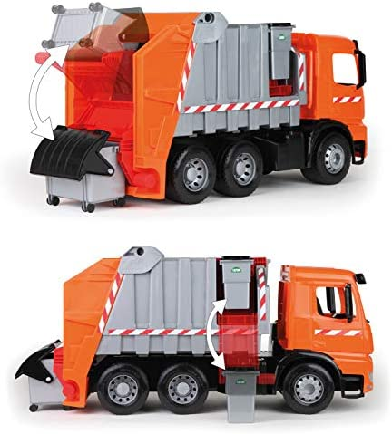 Lena 02167 Starke Riesen Müllwagen, Orange Und Silber, Ca