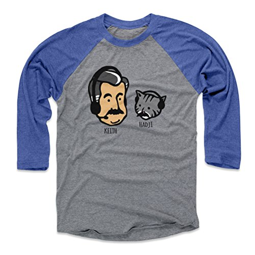 Mets Raglan - 500 LEVEL Keith Hernandez Baseball Tee Shirt (X-Large, Royal/Heather Gray) - New York Mets Raglan Tee - Keith Hernandez Keith and Hadji K WHT