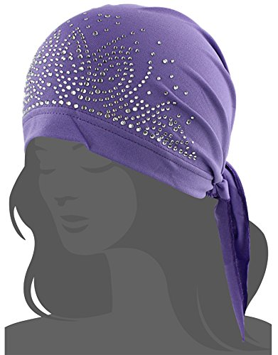(I wish Women's Scarf Pre Tied Chemo Hat Beanie Turban Headwear for Cancer Patients (Deep)
