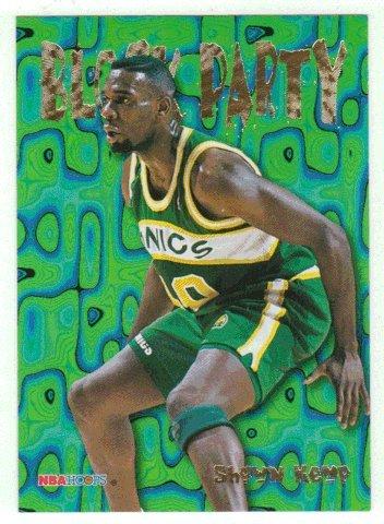 Shawn Kemp (Basketball Card) 1995-96 Skybox Hoops Basketball Block Party # 10