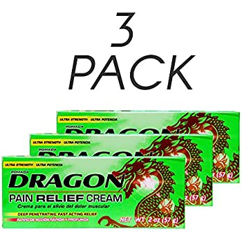 Pomada Dragon Pain Relief Cream, 2 Oz/57 gr. Pack of 3