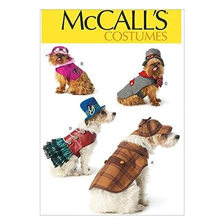 Mccalls Pets Sewing Pattern 7004 Novelty Dog Coats Amazon Co Uk