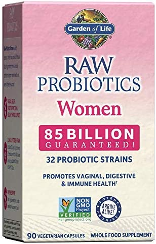 Garden of Life RAW Probiotics Women - Acidophilus Live Cultures - Probiotic-Created Vitamins, Minerals, Enzymes and Prebiotics - Gluten Free - 90 Vegetarian Capsules *Packaging May Vary 1
